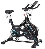 ANCHEER Heimtrainer - Stationäre Fahrräder, Fitnessfahrrad mit iPad-Halter, LCD-Monitor und...