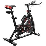 Physionics® Heimtrainer Fahrrad - mit Computer Display, Ergometer, 105x47x100 cm, max 120 kg, Sitz...
