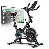Profun Fahrrad Ergometer Heimtrainer 120 kg mit App-Verbindung, Fitnessfahrrad Fitnessbike mit...