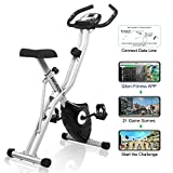 ANCHEER F-Bike Advanced Heimtrainer, Klappbar Hometrainer mit APP LCD-Display, Fitness Fahrrad mit...