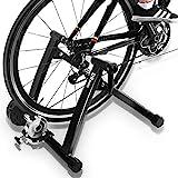 DRMOIS Rollentrainer Fahrradtrainer Indoor Fahrrad Heimtrainer klappbar inkl. Schaltung mit 6 Gänge...