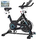 ANCHEER Heimtrainer Fahrrad, Indoor Hometrainer Cycling Fitnessbikes, Ergometer für zuhause mit...